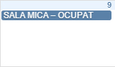 Doar Sala  MIca este rezervata pentru aceasta data